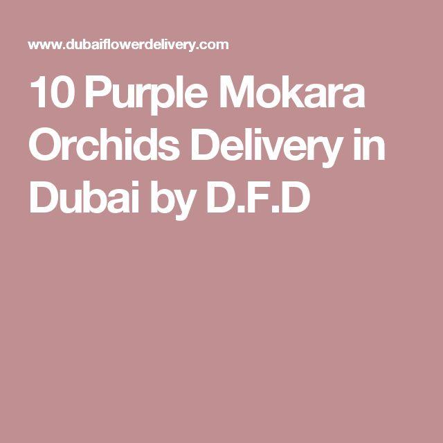 10 Purple Mokara Orchids Delivery in Dubai by D.F.D