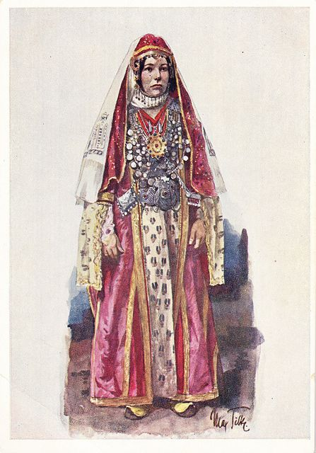 Postcard – Max Tilke – People of the Caucasus Series, 07 (2 copies)- Georgians, A Djavakh Woman | Flickr - From the Collection of Bonnie Naifeh and David Smith