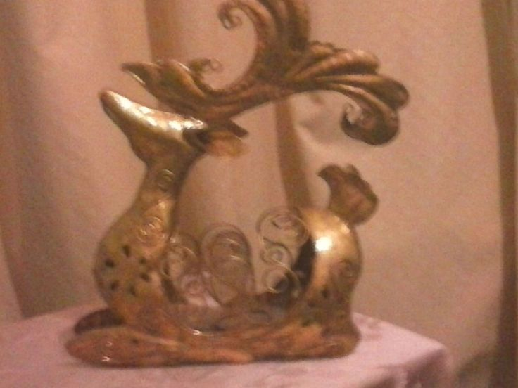 Reindeer Gold Christmas Centre Piece