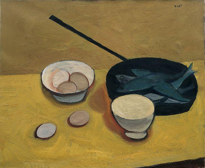 William Scott, Still Life, 1947, Oil on canvas, 50.4 × 61.1 cm / 19¾ × 24 in, Private collection