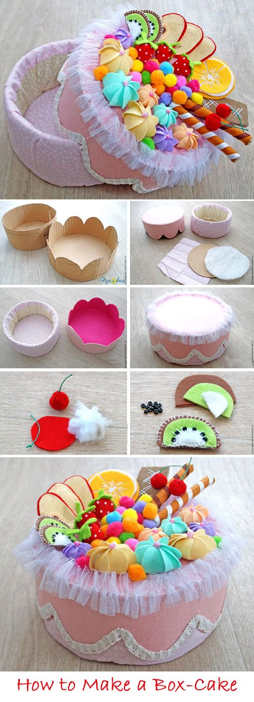 Cake-box for storage DIY Tutorial  http://www.handmadiya.com/2017/04/cake-box-for-storage-tutorial.html