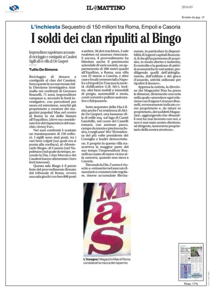 soldi-del-clan-ripuliti-dal-bingo-linchiesta-sequestro-di-150-milioni-tra-roma-empoli-e-casoria by Alessio Viscardi via Slideshare