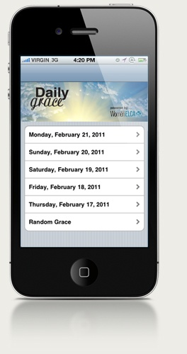 free facebook app for iphone daily grace is a free iphone app an on the go companion 16953