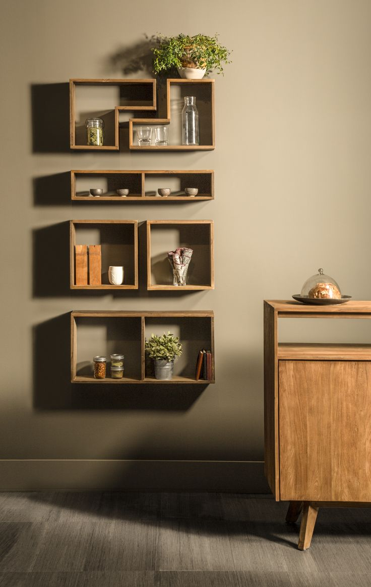 Getting creative with modular, contemporary shelves made of recycled teak wood. Available at www.artemano.ca