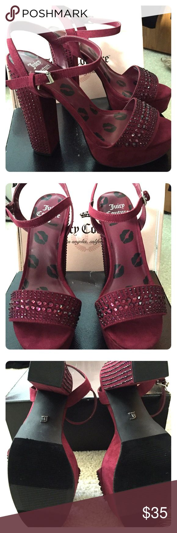Juicy Coutore Heels Juicy Couture Heels. Studded Wine color Heels. Never worn. Comes with box. Juicy Couture Shoes Heels