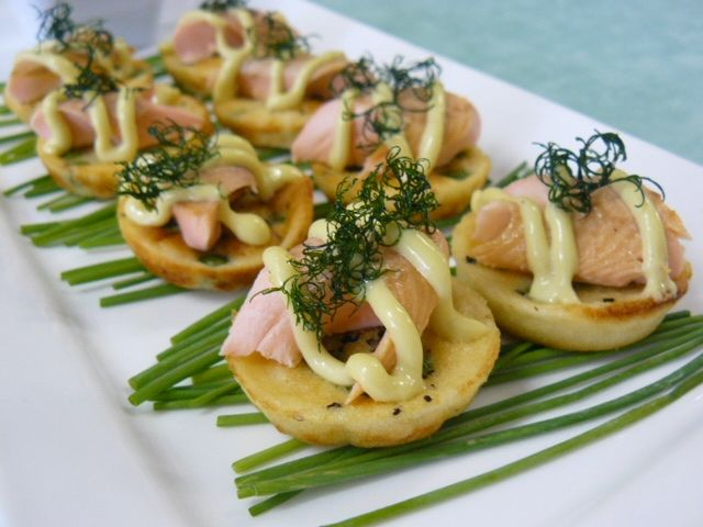 Crave Catering - tea smoked trout!