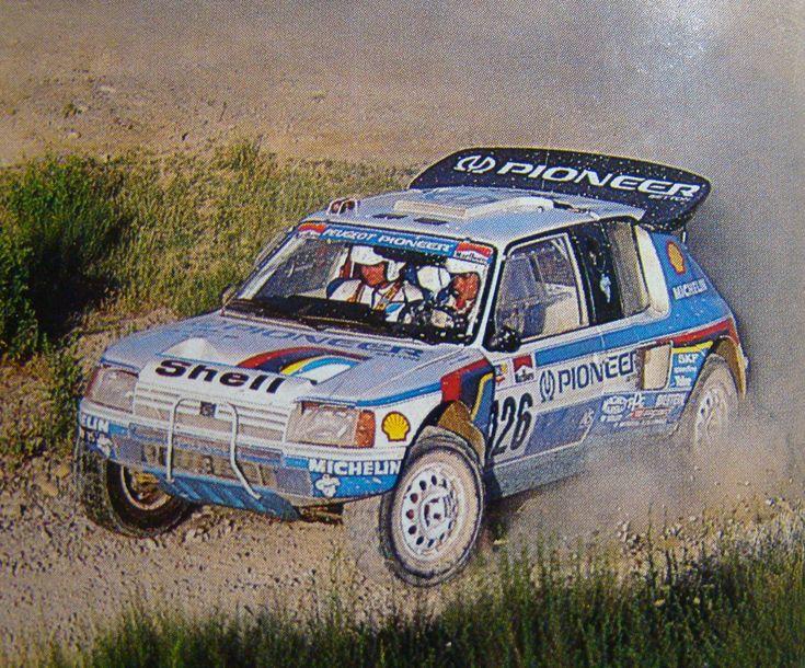 Mouton - Pons, Peugeot 205 T16, Baja España Aragón (1988)