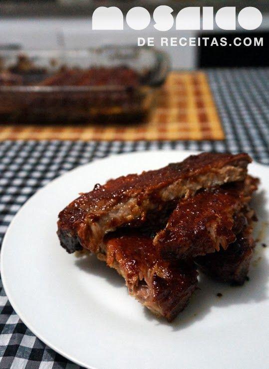 Assim como aquele pão australiano , essa costela foi inspirada em um prato delicioso do restaurante Outback . Lá eles usam molho barbec...