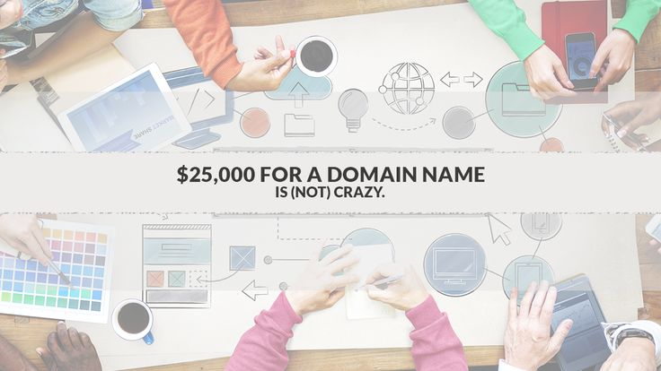 Learn why spending $25,000 or more for a Domain Name is (not as) Crazy as it sounds.