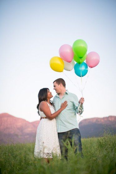Whimsical Balloon-Themed Engagement Photo Shoot - Meet Suhaifa & Jacques on their Whimsical Balloon