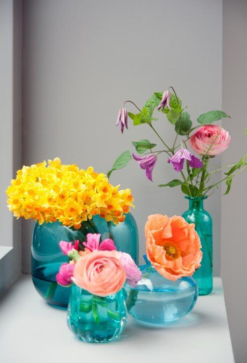 Bloemen en vaas inspiratie - Bloemen van Loes - Bloemen van Loes