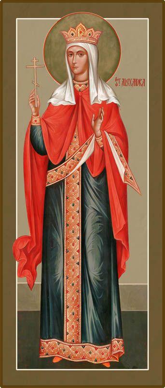 St Alexandra the Tsaritsa Martyr - Damascene Gallery Icon and Church Supply