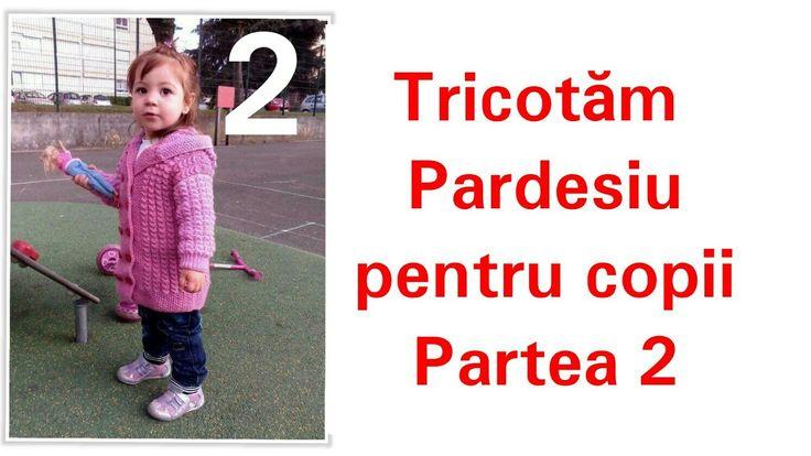 Pardesiu tricotat (pentru copii). Partea 2.