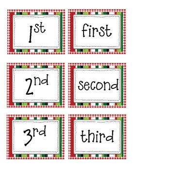 Here's a set of Christmas themed materials for working with ordinal numbers.Dazzle Decs, Holiday, Fun Stuff, Class Activities, Christmas Theme, Christmas Ordinal, Decs Class, Collaborative Boards, Creative Teaching