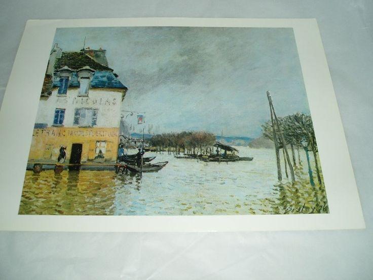"Art Print poster ""L'INONDATION A PORT-MARLY"" ALFRED SISLEY #Impressionism"