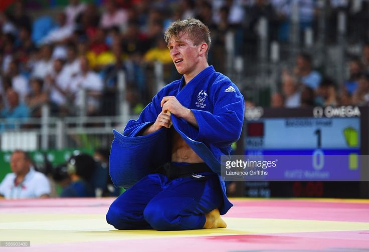 Nathan Katz of Australia reacts to defeat against Imad Bassou of Morocco after…