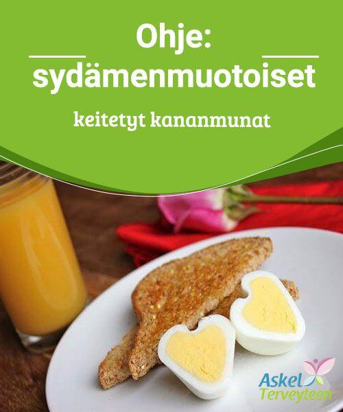 Ohje: sydämenmuotoiset keitetyt kananmunat   Haluatko yllättää rakkaasi erilaisella #aamiaisella? Sydämenmuotoiset keitetyt ja paistetut kananmunat on helppo ja hauska #valmistaa.