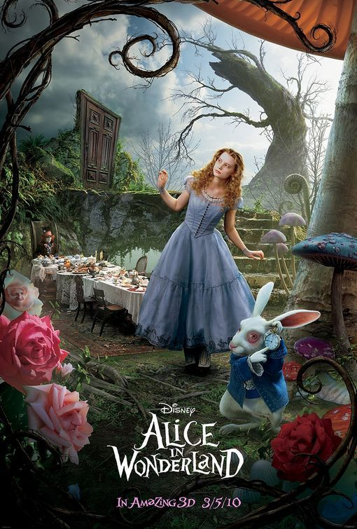 Alice in Wonderland 2010 - Tim Burton does it again with this rich tapestry of a movie.  I loved his treatment of the continuation of Alice's story.  I am so pleased and honored to be alive in a time when these types of movies can be made.  This is a visual masterpiece.  The epic battle with the Jabberwocky is worth the wait.  Honorable mention to Crispin Glover for a superb rendering of the Knave of Hearts.