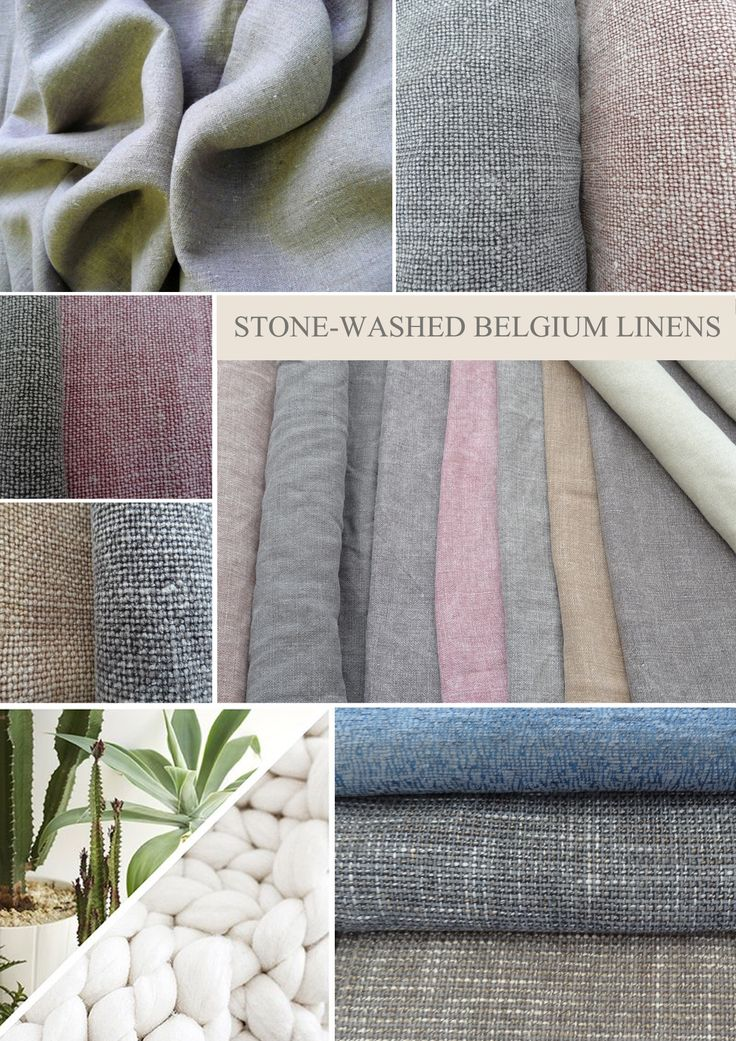 Stone-washed Belgium Linens