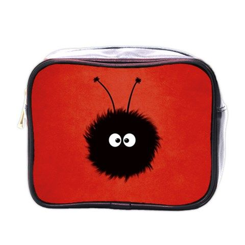 Red+Cute+Dazzled+Bug+Mini+Travel+Toiletry+Bag+(One+Side)+Mini+Toiletries+Bag+(One+Side)
