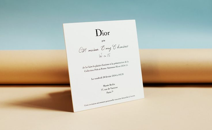 Fashion week A/W 2014 invitations: womenswear collections   Fashion   Wallpaper* Magazine   #Dior https://www.pinterest.com/olgatoptour/dior-new-look https://www.pinterest.com/olgatoptour/dior-nail https://www.pinterest.com/olgatoptour/dior-men Hey @nakinfinite29, @jkmommy79, @vision4510, @deliriumspeaks! What are you thinking about this #DIOR pin?