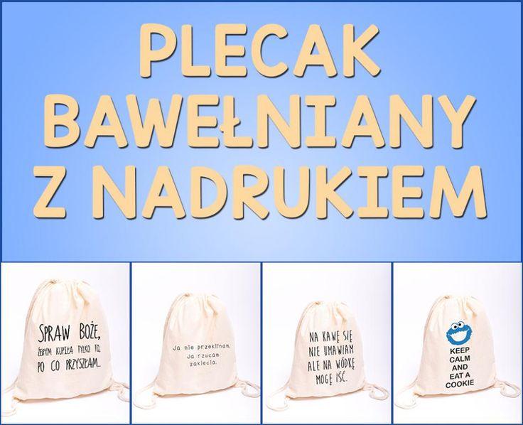 Plecak materiałowy worek bawełniany SPRAW BOŻE