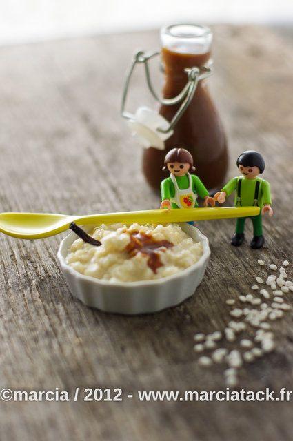 Riz au lait inratable et caramel au beurre salé - Recette - Marcia Tack