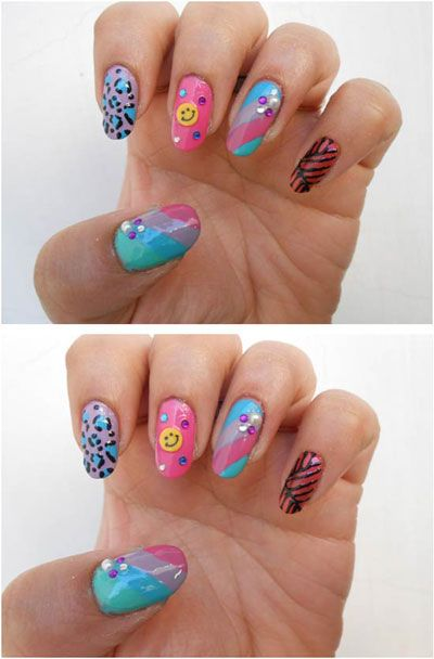 Chain and stud nails Art Designs For Beginners