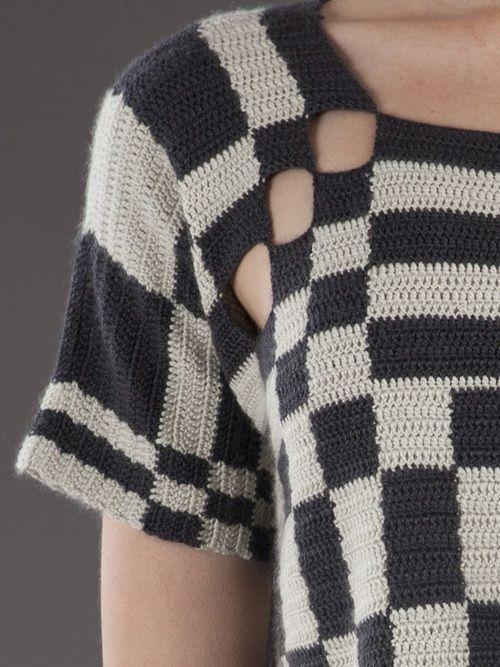 Crochet top from Jen Kao.