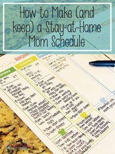 17 Best ideas about Mom Schedule on Pinterest | Stay at home mom ...