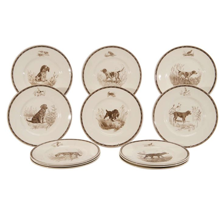 Set of 12 Wedgwood American Sporting Dog Plates- M.Kirmse. Modern Dinner ...  sc 1 st  Pinterest & 13 best Old China images on Pinterest | Modern dinner plates Diners ...