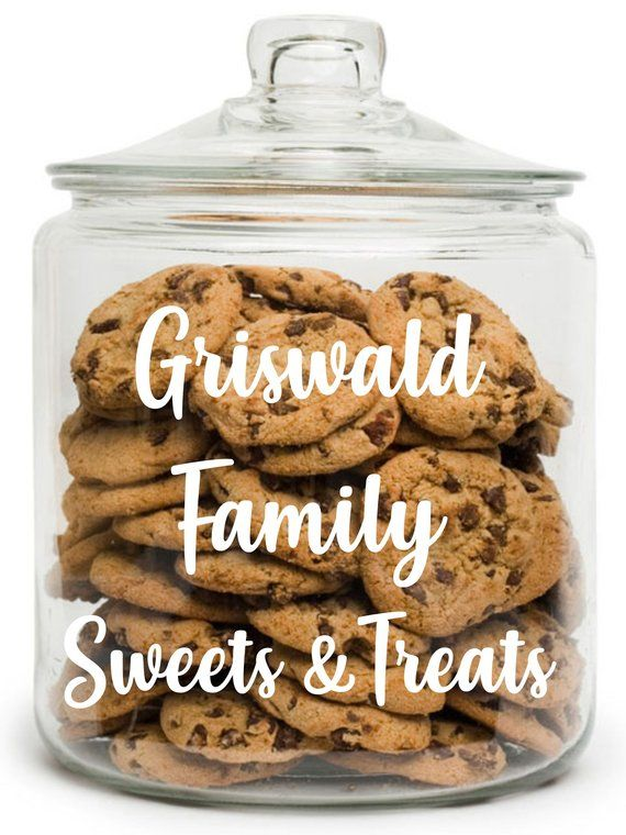 Family Cookie Jar Personalized