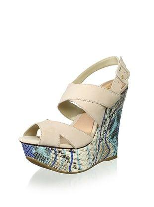 82% OFF Schutz Women's Platform Wedge Sandal (Coconut/Blue)