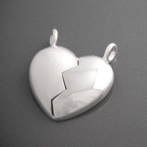 Partneranhänger Silber Herz