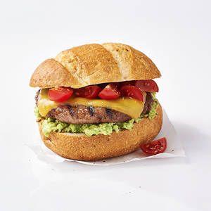 BBQ hamburger met avocado