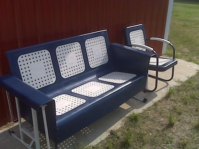 Navy Blue......sale To Virginia Couple. Porch GliderOutdoor ...