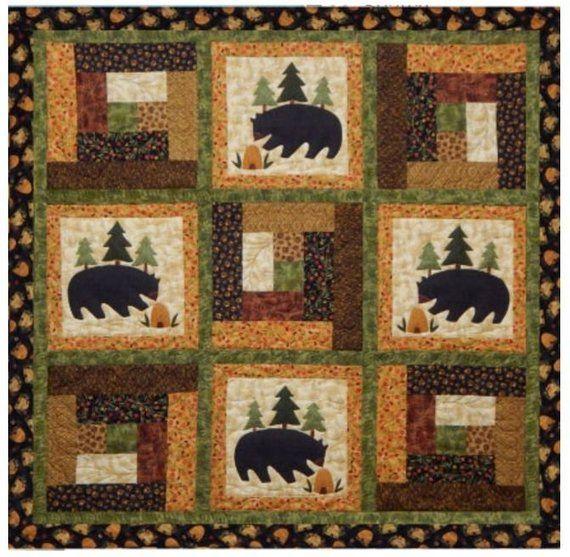 Quilt Pattern, Bear Quilt Pattern, Applique Pattern, Wall