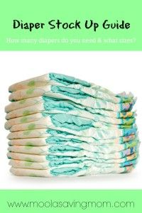 How many diapers do I need to buy?   what sizes?  How to save with coupons.