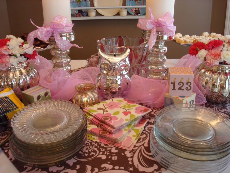 Baby Shower Table Decorations!