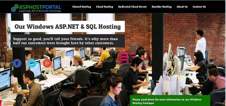 As one of the growing and debt-free web hosts in the industry, ASPHostPortal.com is web host focusing on ASP.NET hosting solutions. People could get shared hosting, cloud hosting and reseller hosting from them. Currently, the company is serving more than 150,000 websites all over the world.