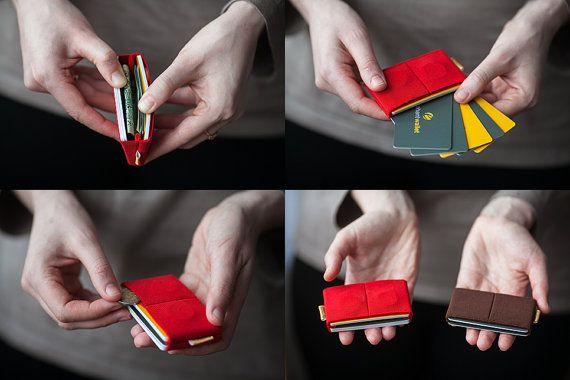 Coin wallet credit card wallet women men wallet by ElephantWallet