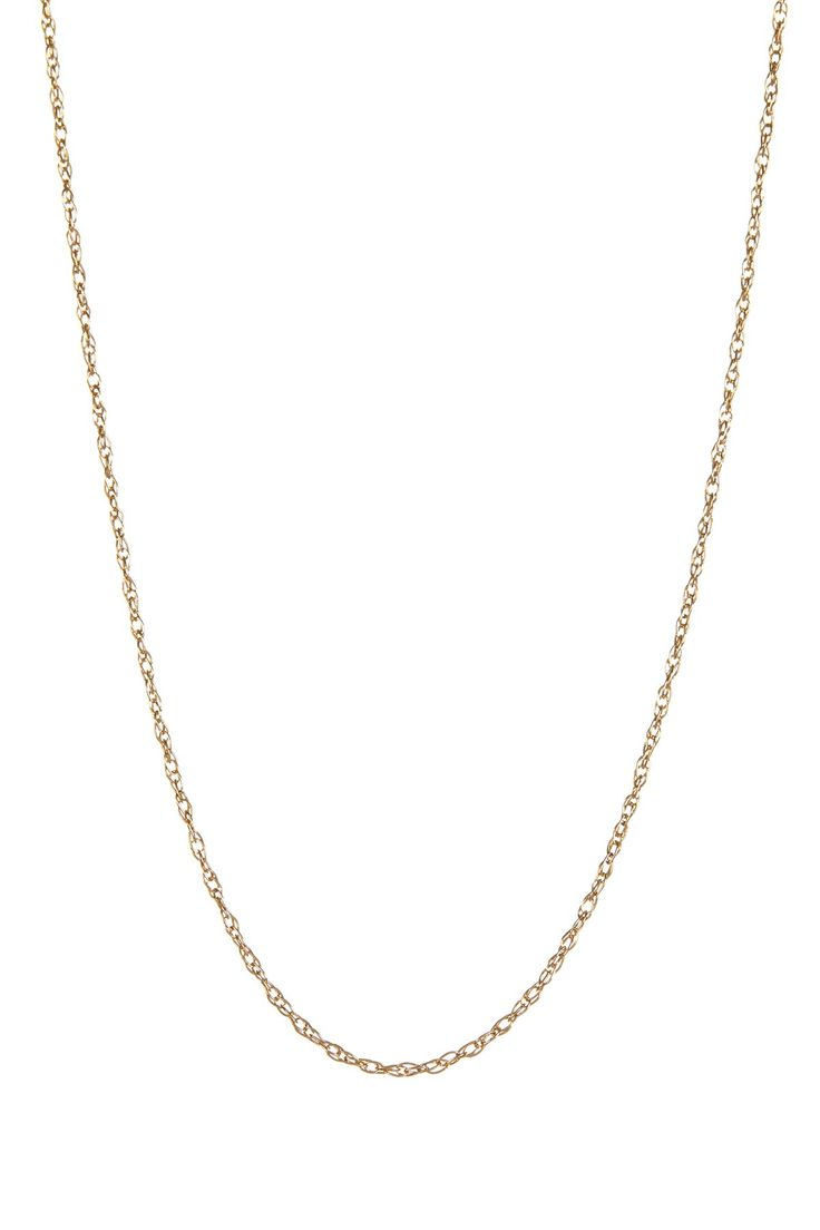 """14K Yellow Gold Rope Chain 18"""" Necklace on @nordstrom_rack"""