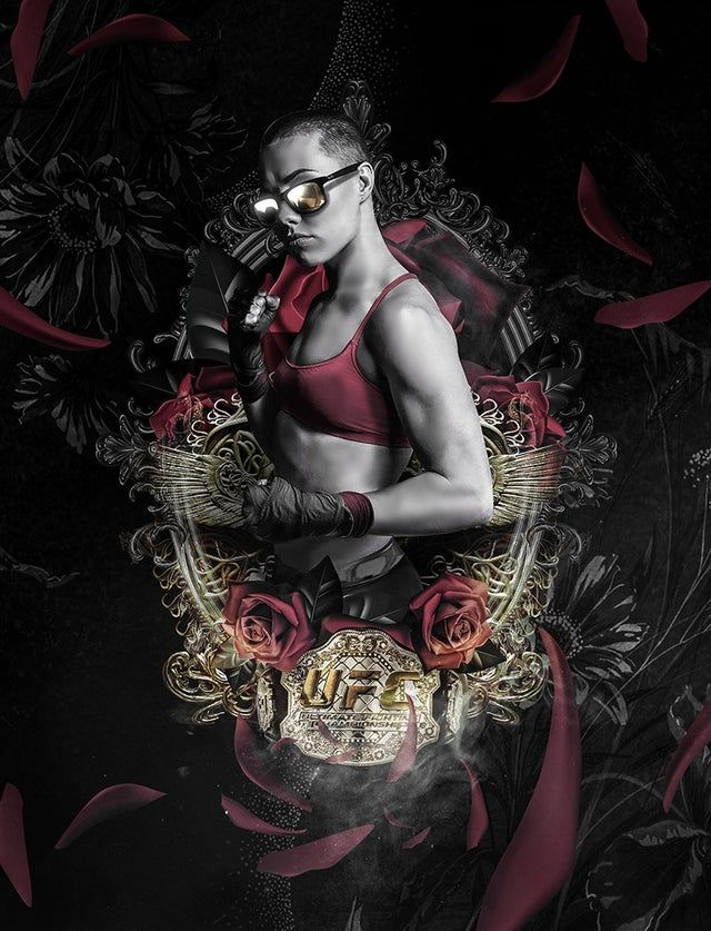 Amazing Thug Rose Artwork By Bosslogic Ufc In 2020 Ufc Poster Thug Rose Ufc
