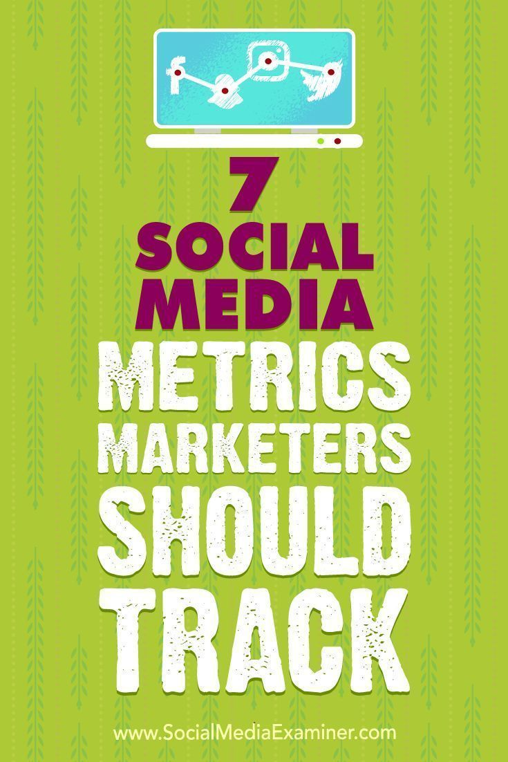 By defining and tracking a few key data points, you can determine whether your marketing is on target.In this article, youlldiscover seven social media metrics to help you gauge your marketings effectiveness.