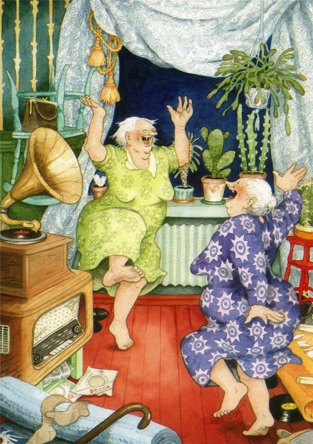 Illustration by Inge Löök. I hope I will always be dancin' my nights away!
