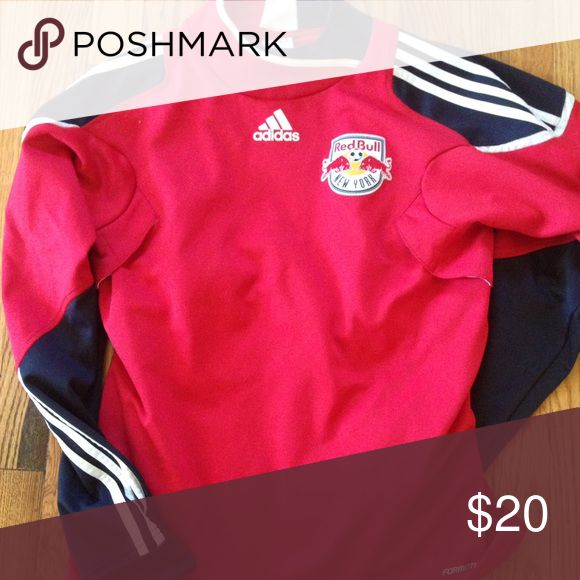 NY Red Bulls Soccer Women's Warm-up Top MLS NY Red Bulls Sweater. Like New. Adidas Tops Sweatshirts & Hoodies