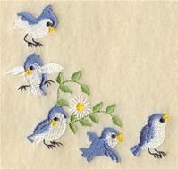 Machine Embroidery Designs at Embroidery Library! - A Bluebirds & Daisies Home Decor Pack
