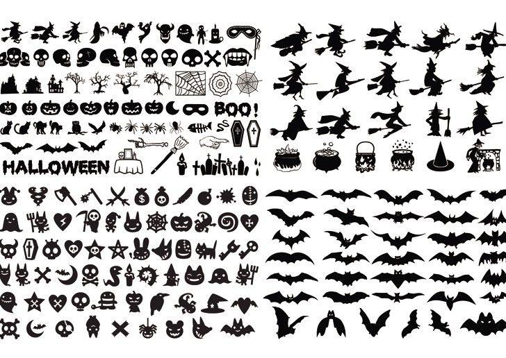 Halloween-gratis mallar mönster kort pyssel inspiration tips