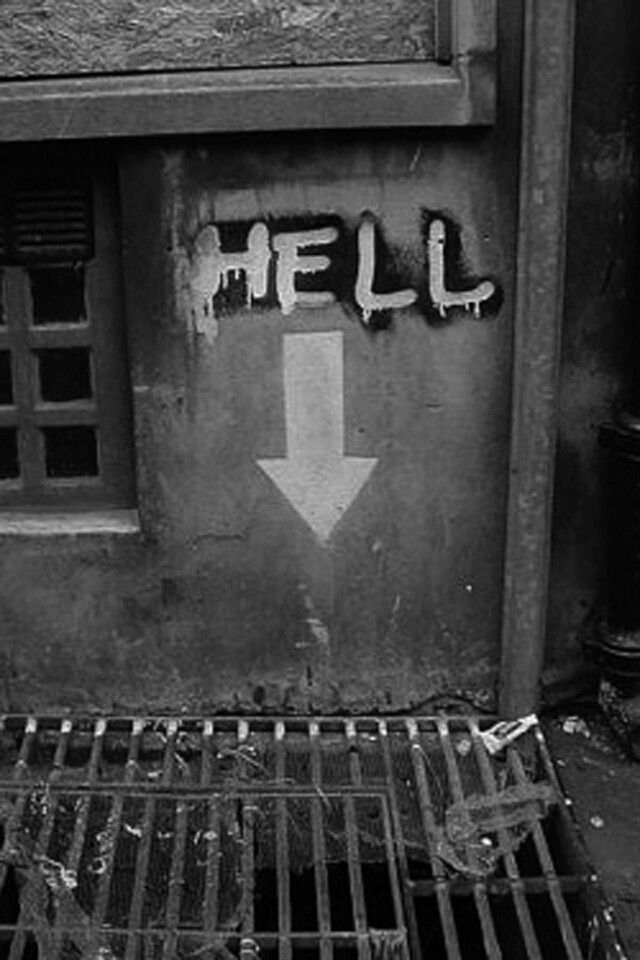 The entrance to Hell - pretty low-key, probably the recession; Devil must have listened to Cameron's austerity speech...