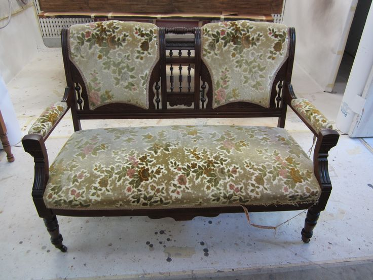 #settee to be #refinished and #reupholstered by AM Furniture Finishing